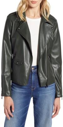 Halogen Faux Leather Moto Jacket