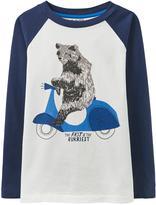 Joules Boys Finlay Screenprint Long Sleeve T-shirt