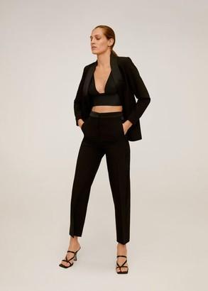 MANGO Straight suit pants black - 2 - Women