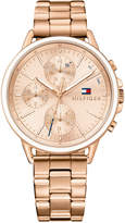Tommy Hilfiger Women's Sophisticated Sport Rose Gold-Tone Stainless Steel Bracelet Watch 40mm 1781788