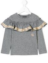 Diesel ruffle trim shirt