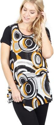 M&Co Izabel tunic top with layered hem