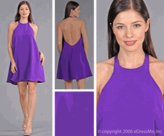 Purple Trapeze Dresses from edressme new york