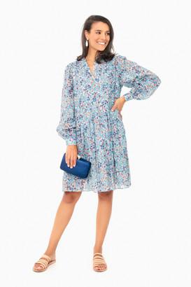 Warm Blue Floral June Dress