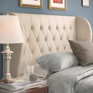 Alcott Hill Velvet Upholstered Wingback Headboard Size: Full