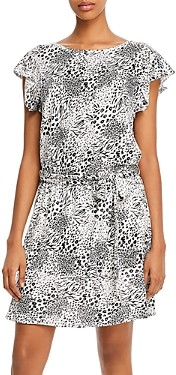 Joie Anthea Linen Snake Print Mini Dress