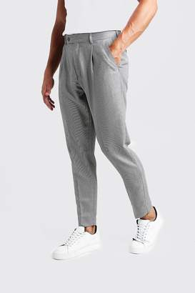 boohoo Textured Pleat Front Smart Trouser