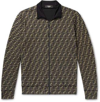 Fendi Logo-Print Tech-Jersey Track Jacket