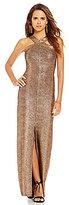 Gianni Bini Rowan Halter Neck Sleeveless Bronze Gown