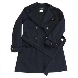Chanel Black Cotton Trench Coat for Women