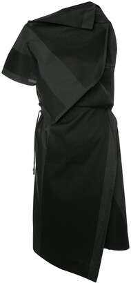 132 5. ISSEY MIYAKE Printed Asymmetric Dress