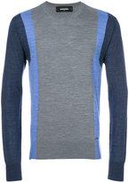 DSQUARED2 colour block jumper - men - Wool - S