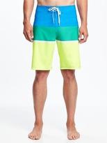 "Old Navy Striped Built-In Flex Board Shorts for Men (10"")"