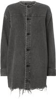 Alexander Wang Collarless Denim Jacket