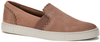 Frye Ivy Scallop Slip On Suede Sneakers