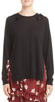 Simone Rocha Women's Big Easy Beaded Merino Wool, Silk & Cashmere Sweater