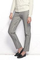 Classic Women's Petite Pre-hemmed Mid Rise Bi-Stretch Slim Leg Pants-Night Sky Print