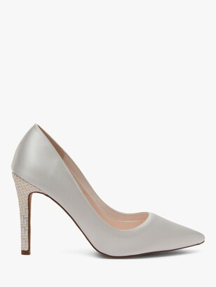 Rainbow Club Rochelle Satin Pointed Court Shoes, Ivory