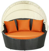 One Kings Lane Pomona Canopy Daybed, Espresso/Orange
