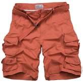 DOOXIUNDI Men's Relaxed Fit Long Cargo Shorts Capri Pants (2XL, )