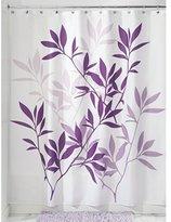 InterDesign Leaves Fabric Shower Curtain, 183 x 183 cm - Purple