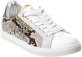 Zadig & Voltaire Wild Snake- Embossed Leather Sneaker