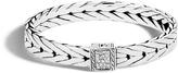 John Hardy Men's Modern Chain 9MM Bracelet in Sterling Silver with Diamonds