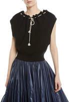 Calvin Klein Ruched-Neck Sleeveless Sweater Top