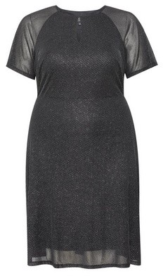 Dorothy Perkins Womens Dp Curve Black Keyhole Dress, Black