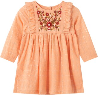 Peek Aren't You Curious Metallic Embroidered Dress