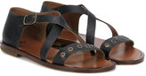 Pépé criss cross sandals - kids - Calf Leather/Leather - 24