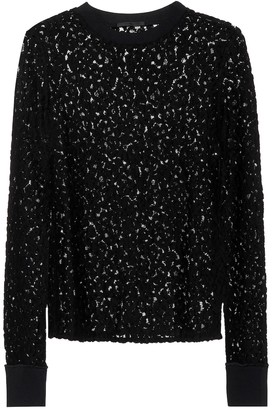 Helmut Lang Lace cotton-blend top