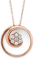 JCPenney FINE JEWELRY diamond blossom 1/6 CT. T.W. Diamond 10K Rose Gold Swirl Pendant Necklace