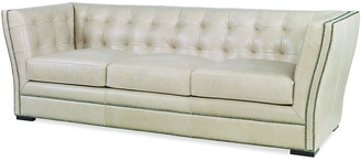 Century Furniture Mallory Tufted Leather Sofa, 92""