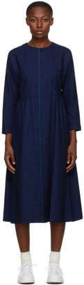 Blue Blue Japan Indigo Yarn-Dyed Flannel Dress