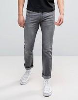 Jack and Jones Regular Jeans In Light Grey Denim
