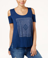 Jessica Simpson Cold-Shoulder Graphic T-Shirt