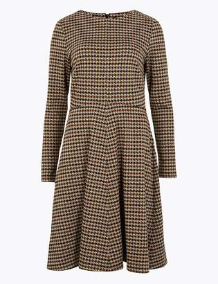 M&S CollectionMarks and Spencer Dogtooth Fit & Flare Dress