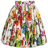 Dolce & Gabbana Poplin Floral-Print Mini Skirt