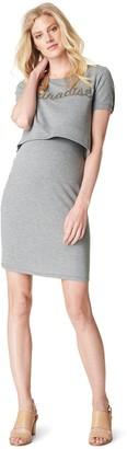 Noppies Women's Maternity Damen Nursing Dress Babeth Grey Melange