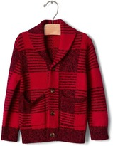 Gap Buffalo plaid shawl cardigan
