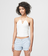 Prince & Fox Ribbed Cropped Halter