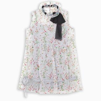 Miu Miu Ruffled floral print mini dress
