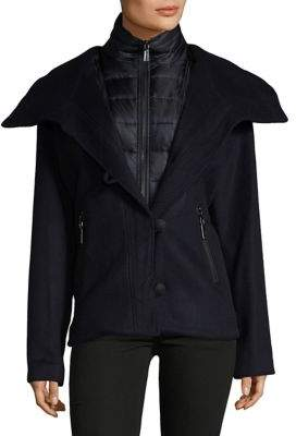 Dawn Levy Buttoned Hooded Jacket