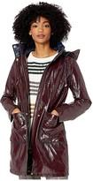 Sam Edelman 3/4 Hooded Slicker (Burgundy) Women's Coat