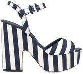 Le Silla 130mm Striped Canvas Platform Sandals