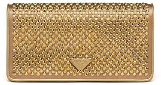 Prada Crystal-Embellished Mini Bag
