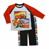 Asstd National Brand Boys Cars Long Sleeve Pant Set-Toddler