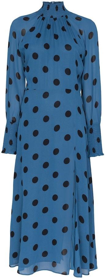 Reformation Valentin polka-dot midi dress