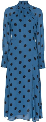 Reformation Valentin polka-dot midi dress